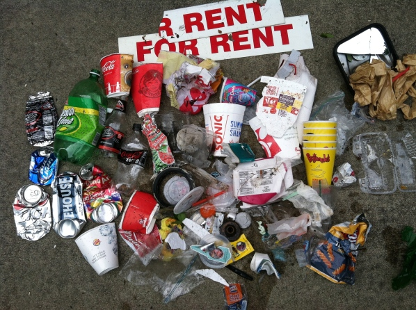 Despite the signage, the earth is not 'for rent'. We're merely borrowing it.