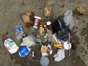 No doubt some of the junk seen here is produced by the companies hoping to see some of that refuse recycled and reused.