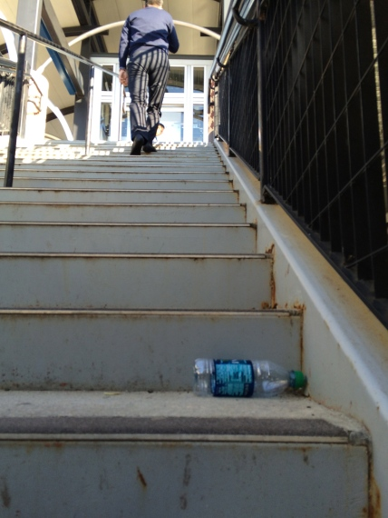 Your photos can be one-offs like this abandoned water bottle. Most anything you send will be welcome.