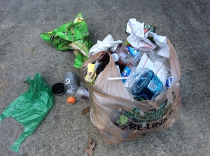 Pre-dump on driveway. No way this bag could hold another thing.