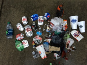 My Saturday haul was typical by my standards. But given the sheer volume of trash along Hwy. 9 west of Lancaster, SC, this wouldn't even be a good start.