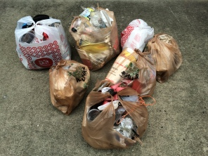 Seven bags in seven days. It's an easy 20 lbs. of garbage.