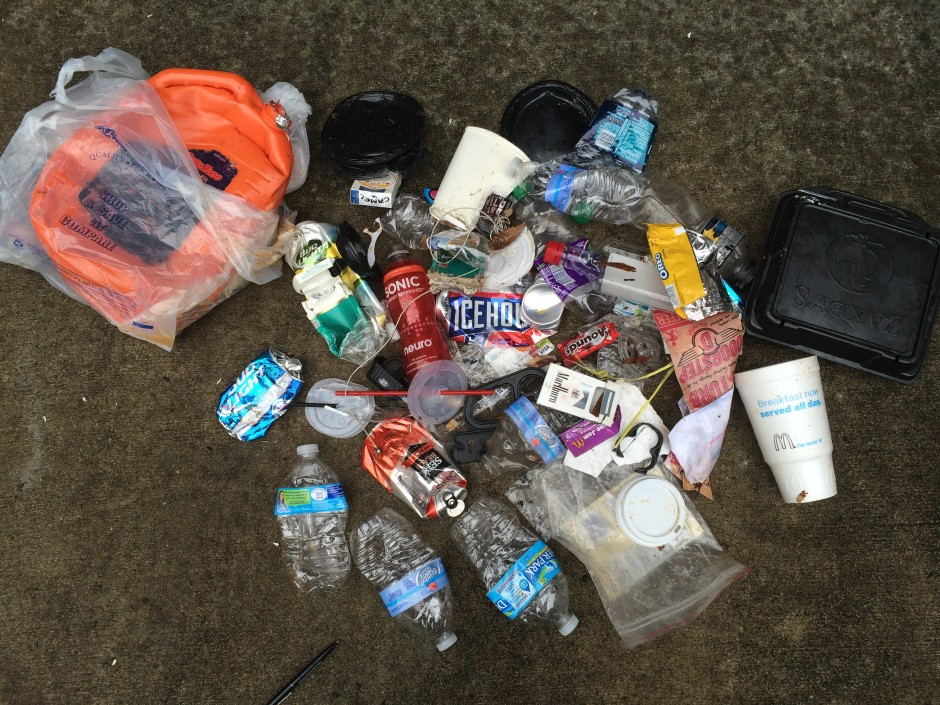 So this is the just rewards for walking in the rain - more junk, more trash, more litter.