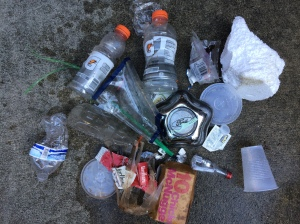 This is the result of my August 10 walk - another bag of junk.